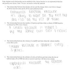 glamorous linear or exponential students are given four verbal descriptions equations word problems worksheet mfas linearorexponential