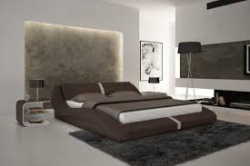 modern leather beds