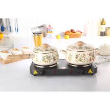 Bếp điện đôi mâm nhiệt Hasu BH 1 năm chính hãng (hàng tốt, tiết kiệm điện)