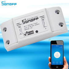 Sonoff Wifi Switch,Universal Smart Home Automation Module Timer Diy  Wireless Switch, Remote Controller