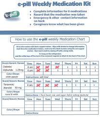 Buy E Pill Weekly Pillbox Medication Chart Pill Dispenser