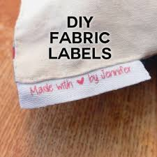 diy fabric labels on twill tape jennifer maker