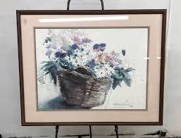 FRAMED & SIGNED FLORAL WATERCOLOR ART PRINT by DONNA BARTON |  EstateSales.org