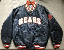 men s vintage 90 s puma nfl chicago bears satin jacket size l