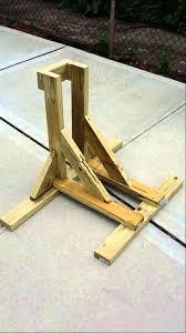 wooden wheel chock