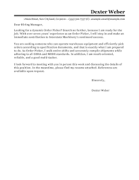 Ideas Collection Best Order Picker Cover Letter Examples Stunning A