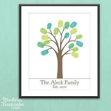 Diy Personalized Thumbprint Family Tree Printable Pdf