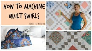 How to Free Motion Quilt Swirls - YouTube & How to Free Motion Quilt Swirls Adamdwight.com