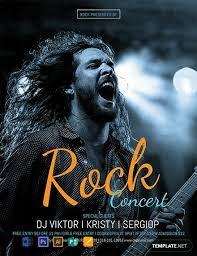 Concert Flyer Templates Free Free Rock Concert Flyer Template Word Psd Apple Pages