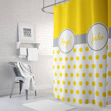 furniture breathtaking yellow grey shower curtain 11 shared dot boys girls bathroom grande jpg v 1480269457