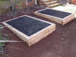 cedar timbers raised beds approx