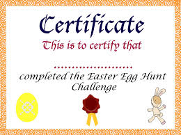 easter egg hunt template easter egg hunt certificate printables happy easter 2018