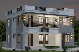 Small Picture 1696 Sqft Modern Double Floor Kerala Home design Amazing