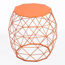 adeco home garden accents wire round iron metal stool side table plant stand triangle pattern ch0149