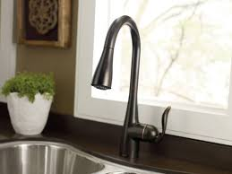 the best of moen oil rubbed bronze kitchen faucet on 7594orb arbor single handle high arc pulldown