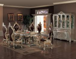 Dining Room With Buffet Table Elegant And Ornate Wood Dining Set Ornate Dining Room Table And Chairs