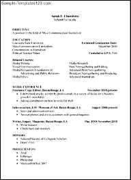 College Resume Format For High School Students. Sample College ...