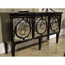 mirrored buffet cabinet. Mirrored Black Buffet | Chic Wood Cabinet Sideboard Glam EBay