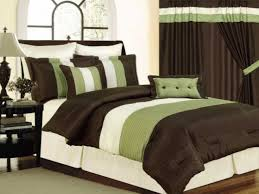 beautifully design green and brown bedding sets