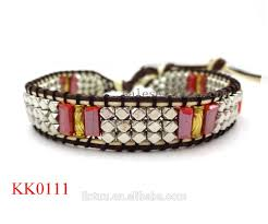 alibaba express jewelry make real leather wrap bracelets and bracelet for man