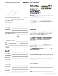 Emergency Form For Daycare 20 Printable Emergency Contact Form For Daycare Templates