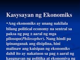 ibig sabihin ng ekonomiks