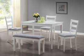 White Bench For Kitchen Table Monarch Specialties Dining Set 5pcs Set White Bench And 3 Side