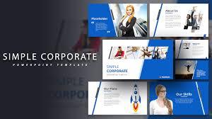 Corporate Powerpoint Design Simple Corporate Powerpoint Template Slidemodel