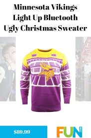 Minnesota Vikings Light Up Sweater Minnesota Vikings Light Up Bluetooth Ugly Christmas Sweater