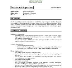Restaurant Manager Coverer Examples Uk District Pdf Assistant