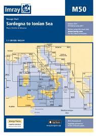 Imray Chart 100 Imray Chart M50 Sardegna To Ionian Sea Todd Navigation