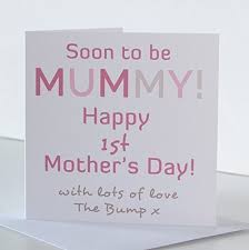 Mummy 1st Mothers Day Card Mothers Day Card For Soon To Be Mummy