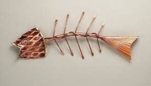 fishbone wall art copper garden sculpture fish bone