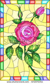 Stained Glass Flower Patterns Best Illustration Stained Glass Style Flower Pink Stock Vector Royalty