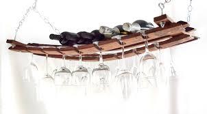 Barrel Stave Hanging Wine Rack
