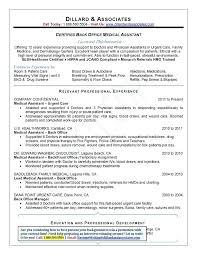 Back Office Resume Sample 3 Sec Front Office Resume Sample