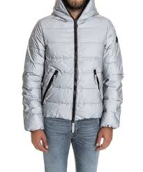 mens clothing hydrogen men s silver polyester down jacket leksizl8295 designer uk