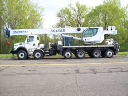 Series Tc 50155 S Manitex Boom Truck Crane Truck Utilities