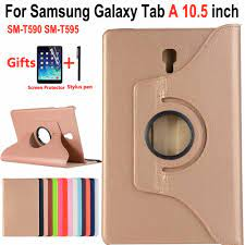360 Derece Dönen Akıllı Kılıf Samsung Galaxy Tab Için Bir/A2 10.5  SM-T590/T595 T590 T595 Darbeye Kapak Samsung Tab Için Bir 10.5 Tablet  Aksesuarları - Unitsgear.news