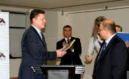 receives honorary diploma of vtb bank