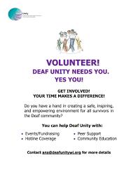 Deaf Hope Deaf Unity Of Wisconsin