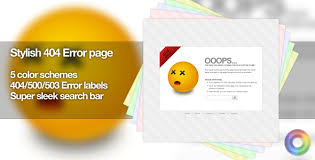 stylish page stylish 404 error page 5 color schemes by fusionmedia themeforest