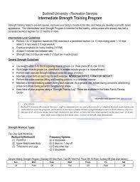 Strength Level Chart Intermediate Level Strength Training Program