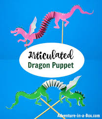 Free Craft Printables Templates Articulated Dragon Puppet With Free Printable Template