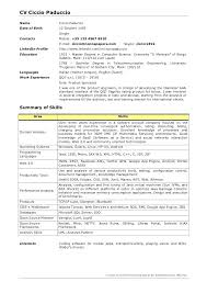 Java Developer Resumes Amazing Sr Java Developer Resume Date Birth Java Developer Summary Resume