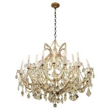 1940s marie therese style large crystal chandelier with 18 lights for