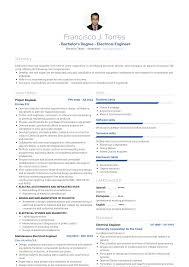 Project Engineer Resume Samples Templates Visualcv