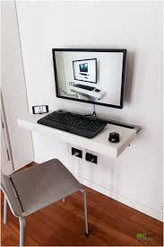 wall mounted computer table designs 2017 pc desks ideas in walls intended for wall mounted computer