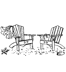 chair clipart black and white. beach black and white chair clipart