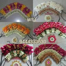 Flower Design For Marriage Wedding Hair Bridal Hair Accessories Indian Bridal